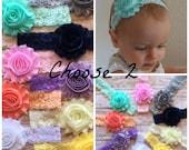 Choose 2 Lace Headbands..Headband Gift Set.Baby Headbands..Baby Girl Headband..Lace Headband..Baby Headband..Headband..Baby