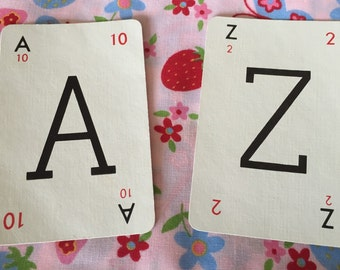 Vintage Lexicon Letter Cards- Full Set of A-Z