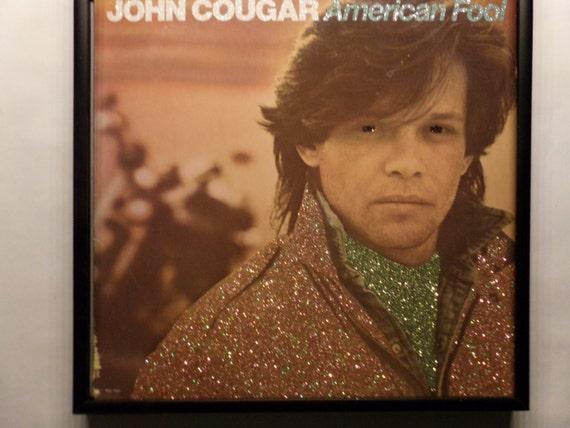Glittered Record Album - John Cougar - American Fool
