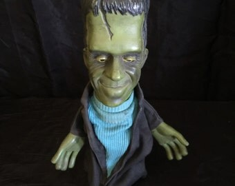 Vintage 1960's Herman Munster Toy Hand Puppet Television favorite Mattel Product Original non talking hand puppet animation characters as is