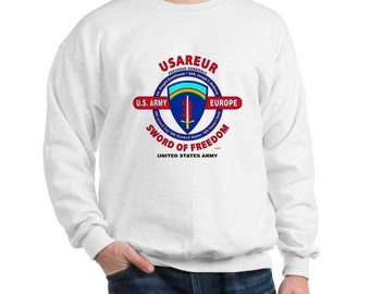 "United States Army Europe *USAREUR* ""Sword of Freedom"" U.S. Military Sweatshirt"