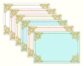 Printable envelope template Gold glitter envelopes 4x6 Envelopes gold and pink gold and peach gold and blue gold and mint