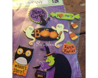 "K&Company  Dimensional Adhesive Chipboard ""Halloween Ghost Words Icons"""