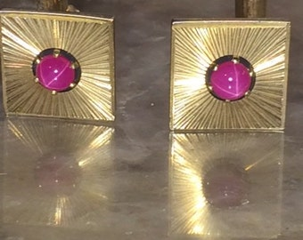 Vintage anson etsy vintage anson star sapphire cufflinks from 1960s sciox Image collections