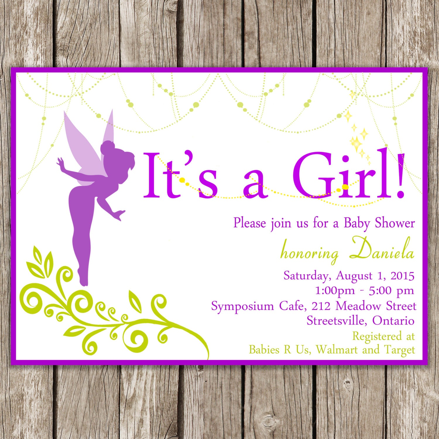 magical fairy baby shower invitation by littlemsshutterbug, Baby shower