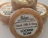 Oatmeal, Milk & Honey Loofah Soap