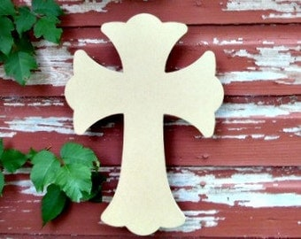 Unfinished MDF Wooden Cross #62