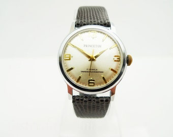 Princeton Men's Watch 1960's Manual 17 Jewel Movement Stainless Steel Case