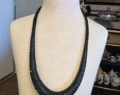 Ebony Wood African Style Necklace