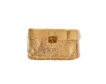 Whiting Davis purse whiting Davis bag Gold Clutch / Purse Bag / Envelope Clutch Vintage Accessories / Women Accessories / Handbag Clutch