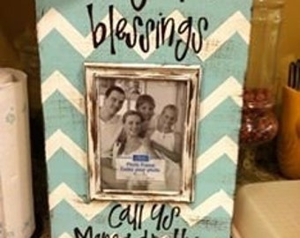 Distressed blessings frame