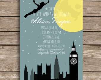 Peter Pan Baby Shower, Printable Invitation