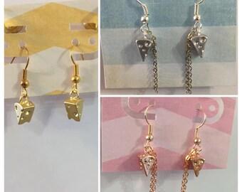 Cheesy earrings