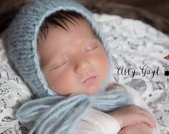 Newborn Photo Prop, Newborn Luxury Knit Bonnet, Newborn Baby Bonnet, Baby Alpaca Bonnet, Photo prop, Newborn photoprop hat
