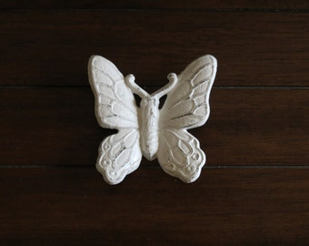Butterfly Wall Hanging/Cast Iron Wall Decor / Vintage Inspired / Antique White or Pick Color/ Shabby Chic Wall Decor/Girl's Room