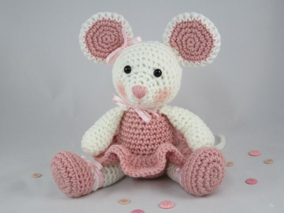 Ballerina Mouse Crochet Stuffed Mouse Amigurumi Mouse