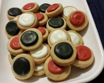 Mini Mickey Round Button Cookies (4 dozen)