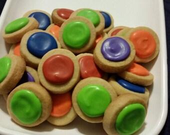 Mini Turtles Round Button Cookies (4 dozen)