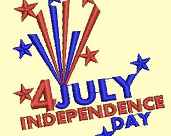 4 july Independence Day embroidery - Machine Embroidery design