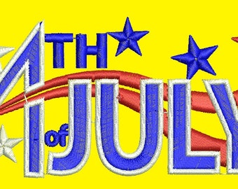 July 4 Independence Day  - Machine Embroidery design