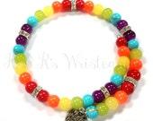 Rainbow Beaded Bracelet, Love Wins Beaded Coil Bracelet, Love Wins, Unite, Coil Beaded Bracelet, Memory Wrap, Unisex Jewelry, Beaded Jewelry