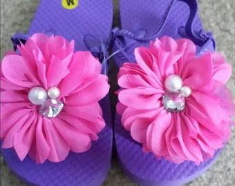 Flower Puff Sandals