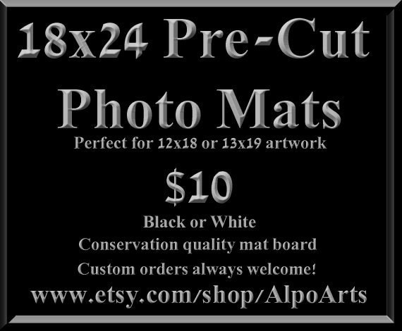 18x24 Mat With 12x18 Opening 18x24 Pre Cut Photo Mats For