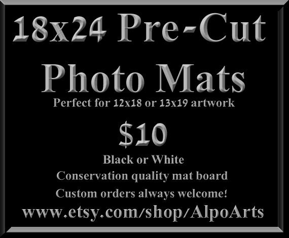 18x24 Pre Cut Photo Mats For 8x10 12x18 Or 13x19 Images