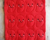 Kawaii Jelly Bean Felties, Choose Color, Acrylic Felt with Embroidery, Uncut Set of 12, Great for Hair Bow Centers, Scrapbooking