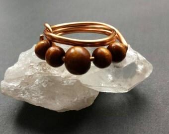 Wood Cascading Ring