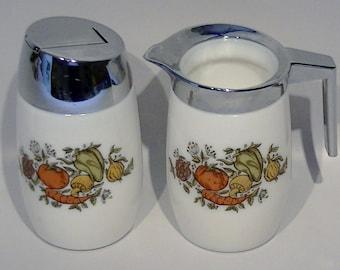 Vintage Corelle Pyrex Cream and Sugar Dispenser, Creamer Pitcher - Spice O' Life