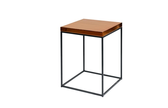 Extra tall 23 5 polished copper bedside table by for Extra tall nightstands