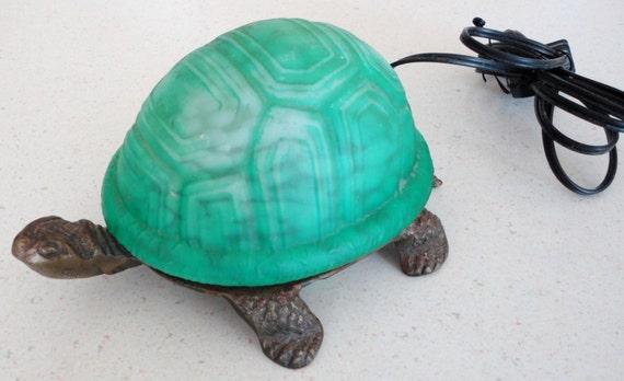 Vintage Turtle Lamp Light Eclectic Mid Century Table Decor