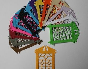 "10 ""Stained Glass Look"" Windows/Die Cuts/Embellishments/Scrapbooking/Card Making/Spellbinders"