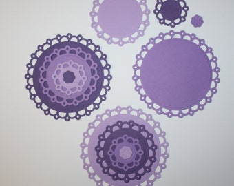 12 Scalloped Embellishments/Die Cuts/Spellbinders/Card Making/Scrapbooking/Paper Cuts