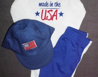 Newborn Baby Bodysuit Set - Made In USA - Newborn Baby Gift Sets - Bodysuit For New Baby Boy Or Girl - USA Baby - Made In USA Baby Gift Set