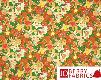 Gingerbread Fabric, Mrs. Claus' Kitchen Collection by Fabri-Quilt, Quilt or Craft Fabric, Fabric by the Yard