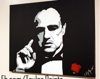 Marlon Brando Custom Painted on Canvas 16x20