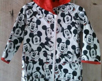 Vintage Mickey Mouse unisex kids rain coat The Disney Company 4T