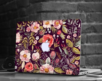 "Midnight Floral Medley Skin Decal for Apple Macbook Air & Mac Pro Retina , New Macbook 12"" , Dell , HP , Toshiba , Asus , Windows , Samsung"