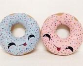 Doughnut Pillow, Party Favor, Felt,  Machine Washable Toy, Friend Gift, Decorative Pillow, Hand Sewn