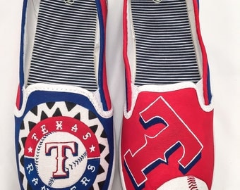 Texas Rangers Hand Painted Shoes