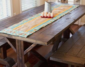 Farmhouse retro table runner