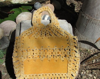 Tan Suede Bag Purse Boho Hippie Style