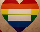 Marriage Equality, Decal for Auto, Netbook, Ipad, or Laptop