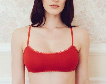 Red 'Carole' bralette