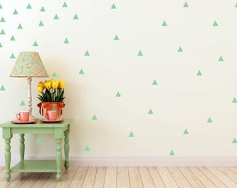 Triangle Confetti Wall Decals - Set Of 100 - Triangle Decor - Wall Decals - Decals - Geometrical Decor - Teens Room Decor