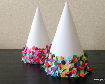 Confetti Decorted Party Hats