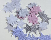 100 Stars or Birds, Punched Shape, Security Envelope, Altered Art, Scrapbook Embellishment, Book Themed Baby Shower, Book Themed Wedding