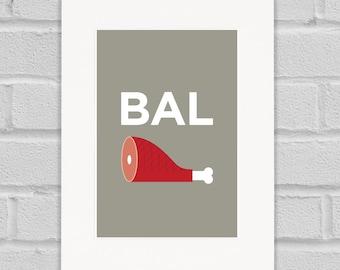 Balham Pâté - Giclée Art Print
